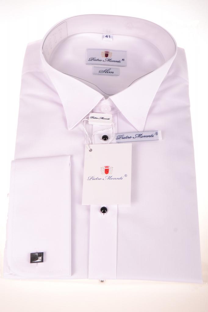 e8e885a5f782 Pánska košeľa Pánska smokingová košeľa biela (SLIM) - Zoznamtovaru.sk