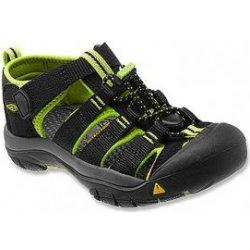 d3801097e81f Keen Newport H2 K Detské sandále black lime green od 45