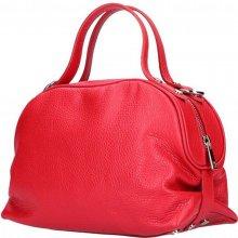 Made In Italy kožená kabelka 5301 Červená cb828b573cf