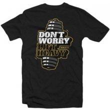 """BioTech USA tričko """"Don't worry"""" čierne rozmer"""
