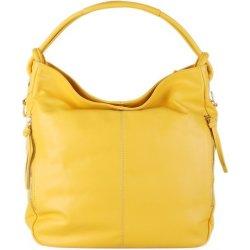 af5279a094 talianske Vera Pelle kožené luxusné kabelky cez plece žlté Salvare ...