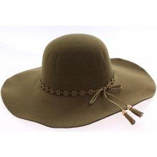Dámsky klobúk flísový zelený