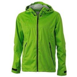 James   Nicholson pánská softshellová bunda s kapucí JN1098 Zelená tmavě  šedá 7475d1eb51e