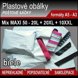 Mix MAXI - 50ks plastových obálok v 3 veľkostiach
