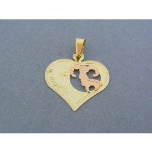 34b1b2fe2 MARM Design Zlatý prívesok srdiečko znamenie barán žlté červené zlato VI104V