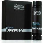 L'Oréal Homme Cover 5 Hair Color farba na vlasy pre mužov farba na vlasy 4 Medium Brown hnedá 3 x 50 ml