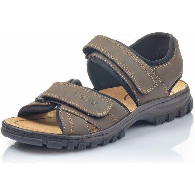Pánske sandále RIEKER 25051-27 hnedá S1 25051-27 BRAUN F/S1 41