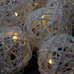 Vianočné svetelné gule 10 diód, 2,8m