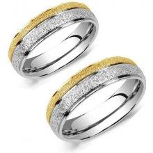 Ligot Snubné oceľové prstene obrúčky s pieskovaním RRC0365 OB 248d5b1baa1
