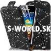 Kožený obal Samsung Galaxy Ace 2 - Diamond Flip čierna