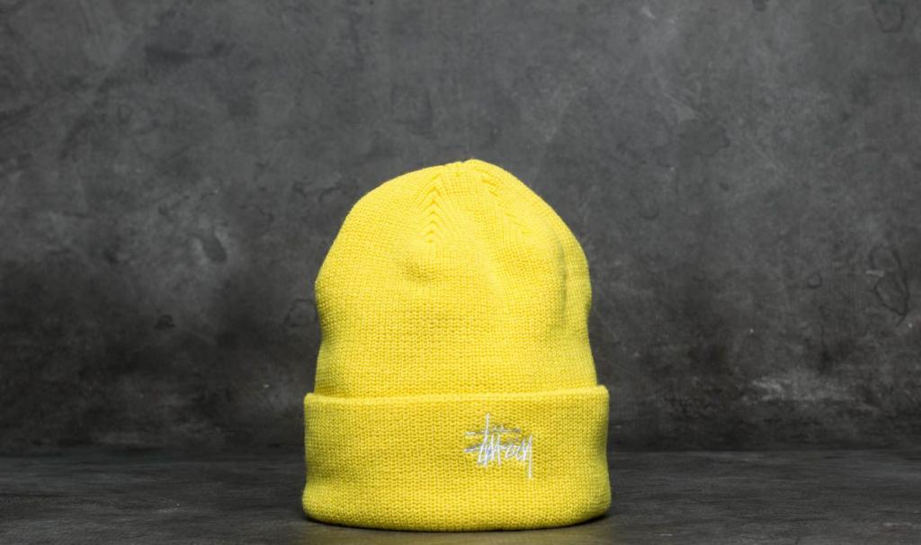 130235b08 Zimná čiapka Stüssy Basic Cuff Beanie Neon Yellow - Zoznamtovaru.sk