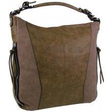 moderná veľká dámska kombinovaná kabelka YH1649 hnedá c34bae98433