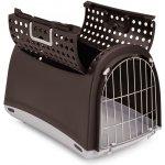 Argi Přepravka pro kočky a psy Cabrio - hnědá - 50x32x34,5 cm