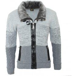 25a0c410f3f7 COMEOR pánsky sveter 4554 na zips golier s kožušinkou od 45