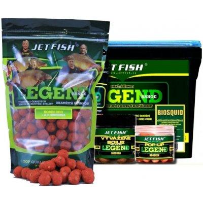 Jet Fish boilies Legend Range 1kg 20mm Seafood + slivka / cesnak