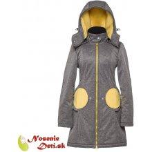 Liliputi kabát na nosenie a tehotenský Grey-Yellow 6c176342c5f