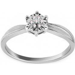 0d1219cea iZlato Design Zásnubný prsteň z bieleho zlata s diamantmi Baina ROYBR039A