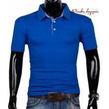 11074-15 Elegantné modré tričko pre pánov McMANAMAN