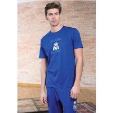 Real Madrid pánské pyžamo kr.rukáv 3 dílné modré