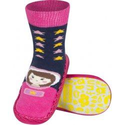 9cc103930be0 SOXO Detské papuče s koženou podošvou KOSMONAUT od 4