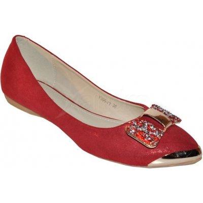 Spoločenské balerínky - červené