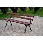NaK Parková lavička Olga 180 cm 4 cm céder