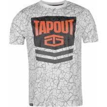 Tapout Chevron T Shirt Mens White
