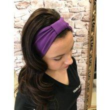 Jaska Style úpletová čelenka fialová