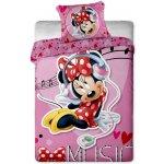 JERRY FABRICS Obliečky Minnie music micro polyester 140x200 70x90