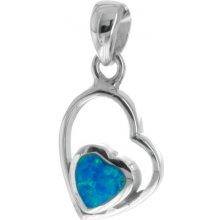 d3b8205fb Argento Strieborný prívesok opál modrý srdce 8508600