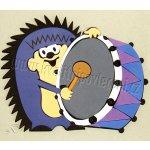 HM Studio dekorácia penová Krtkovi kamaráti ježko 18x22cm