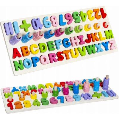 ISO 10979 drevená vkladačka abeceda čísla