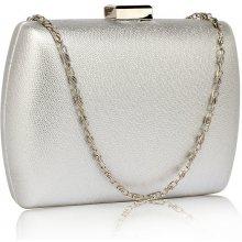 kabelka clutch spoločenská so zlatými doplnkami strieborná 395548ec984