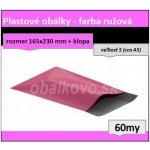 """Ružové LDPE obálky veľ. """"S"""" 165x230mm (60my) *100ks"""