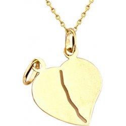 d1063bc3a Zlatý prívesok srdce pre dvoch IZ4630 alternatívy - Heureka.sk