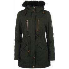 SoulCal Zipped Back Parka Coat dámská Hluboký les