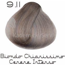 zer0zer039 profesionálna farba na vlasy bez PPD 9.11 biondo chiarissimo  cenere intenso 100 ml 2afd34fde7e