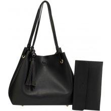 55ca50883e kabelka Brenna hobo eko kožená na rameno čierna