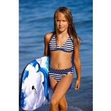 104be0a7d Dievčenské dvojdielne plavky Lorin DP1 modrá biela