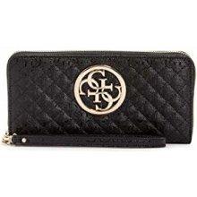 34f3713d4 Guess peňaženka Gioia Logo-Embossed Zip-Around Wallet čierna