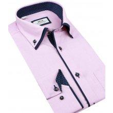 8afec9fc022d Beva Slim Elegantná ružová košeľa 2K143
