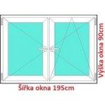 Soft Dvojkrídlové plastové okno 195x90 cm, O+OS
