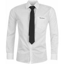 Pierre Cardin Plain Shirt and Tie Set pánská košile