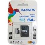 ADATA microSDXC 64GB UHS-I U1 + adapter AUSDX64GUICL10-RA1