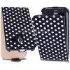 Kožený obal Samsung Galaxy Ace 2 - Polka Flip čierna