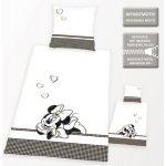 Herding Obliečky Minnie Mouse 2015 čiernobiela bavlna 140x200 70x90