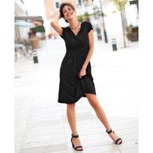 9bc3d1f8c866 Blancheporte Splývavé úpletové šaty čierna