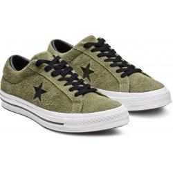 Converse zelené pánske kožené tenisky One Star Ox Field Surplus Black White 0188f3aaa9d