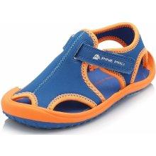 ALPINE PRO Detské sandále Punit oranžovo-modré