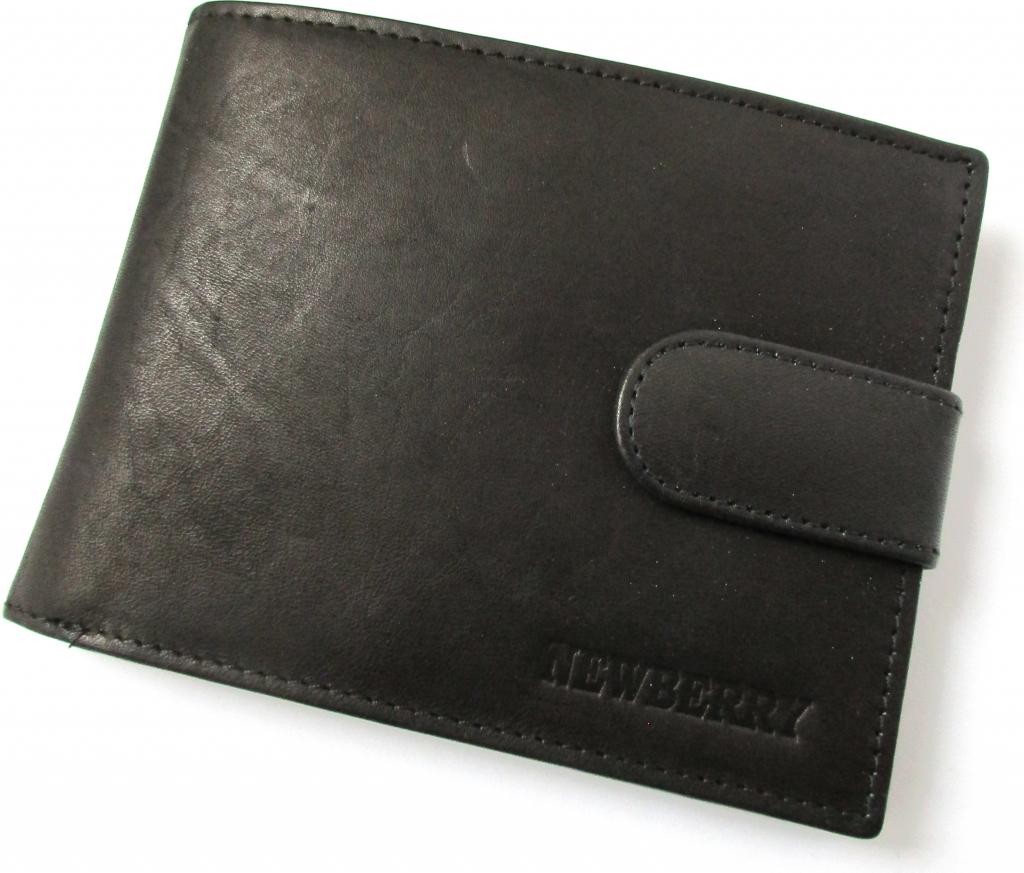 5380a81909 New Berry pánska peňaženka z bravčovej kože 885 čierna